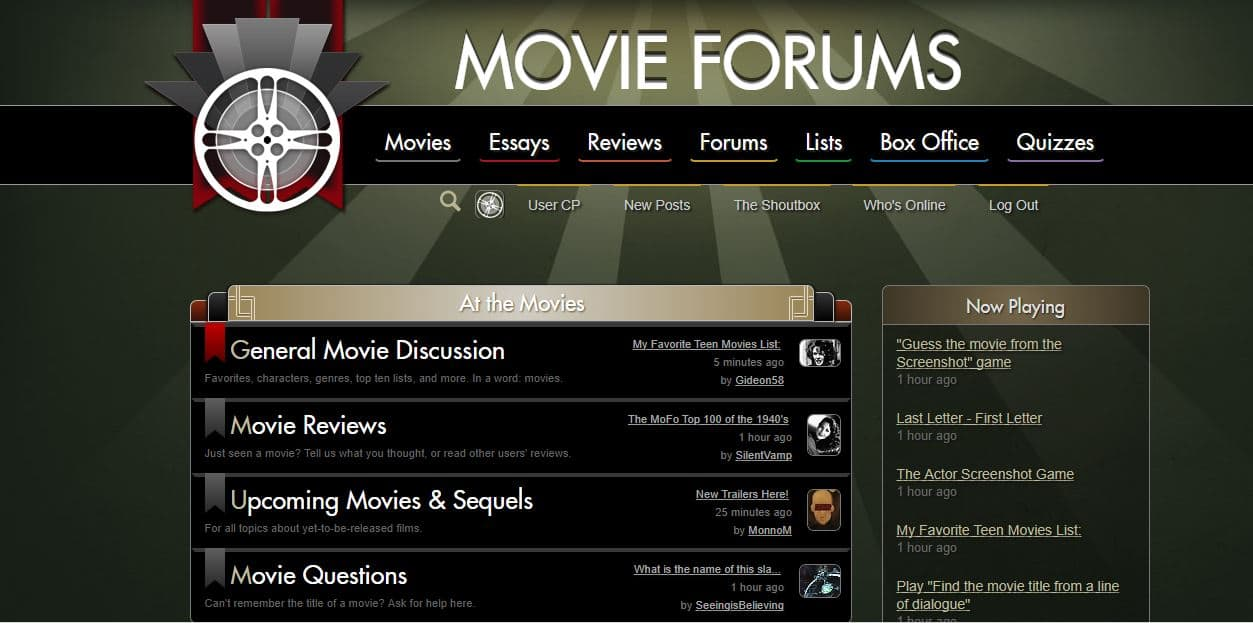 Movie Forums Homepage