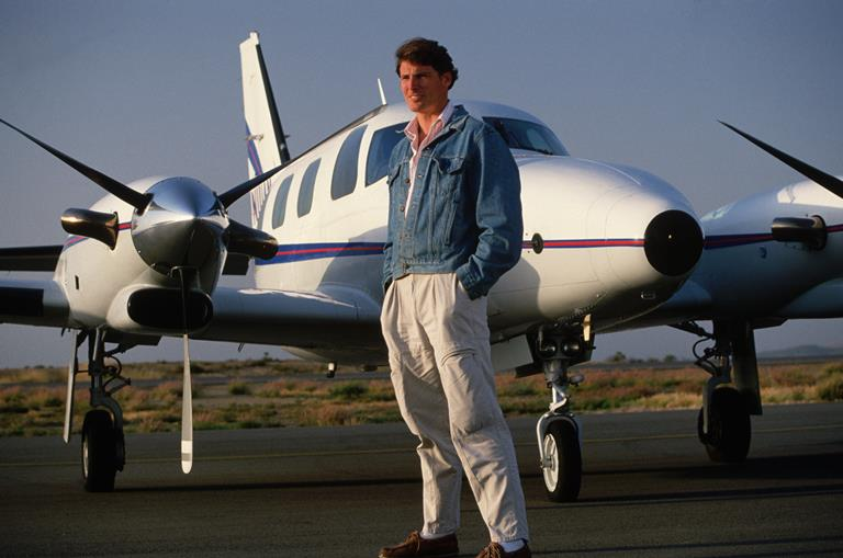 Christopher Reeve was a qualified pilot