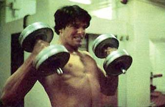 Christopher Reeve Working Out