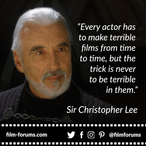 Christopher Lee Acting Quote