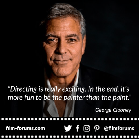 George Clooney Directing Quote