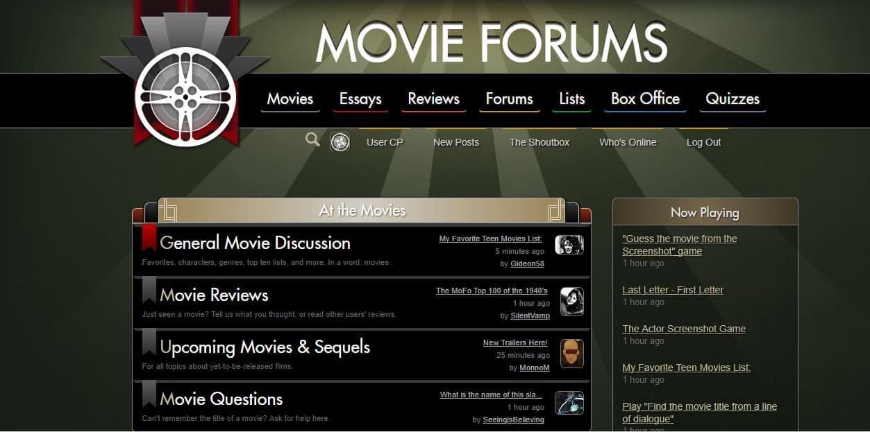 Movie Forums Homepage