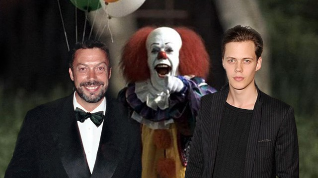 Tim Curry and Bill Skasgard as Pennywise