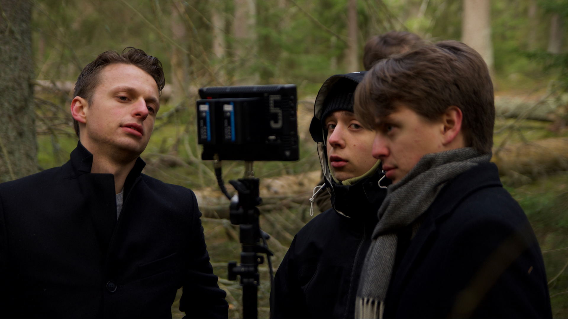 Directors André & Vito Gogola together with 1st Assistant Camera Jesper Wahlqvist