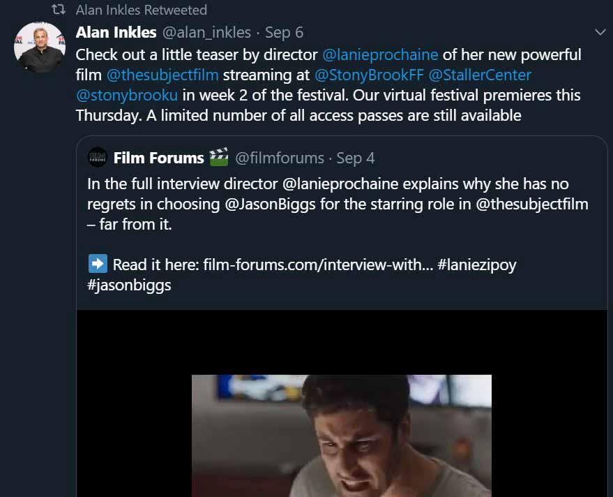 Director Alan Inkles via Twitter