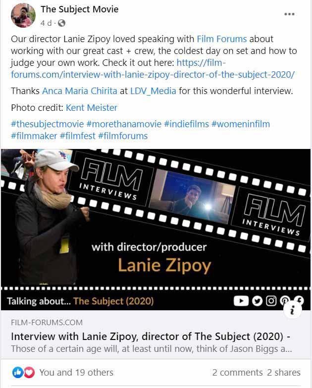 The Subject Film Facebook