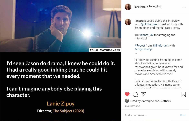 The Subject Film Instagram Lanie Zipoy
