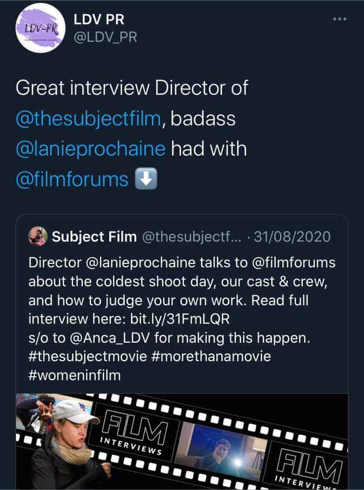 LDV Media, Publicist via Twitter