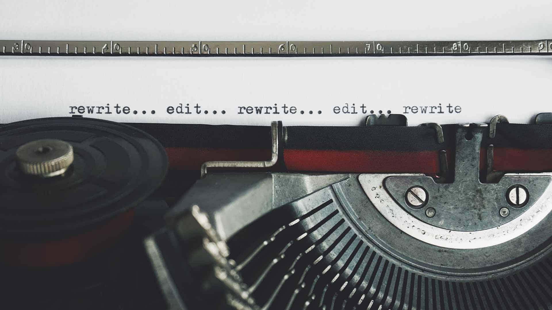 Scriptwriting on a typrwriter