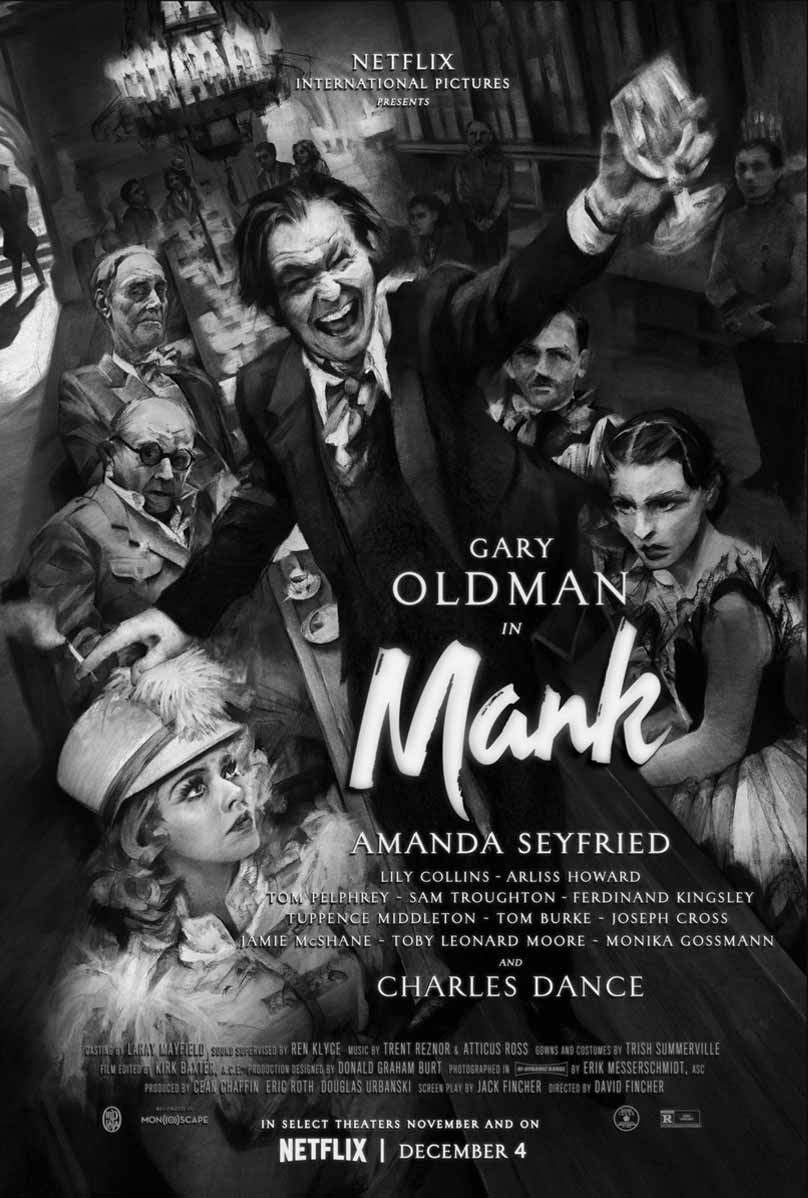 David Fincher's Mank Film Poster