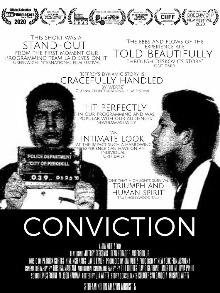 Conviction (2020) Movie Poster, Jeff Deskovic