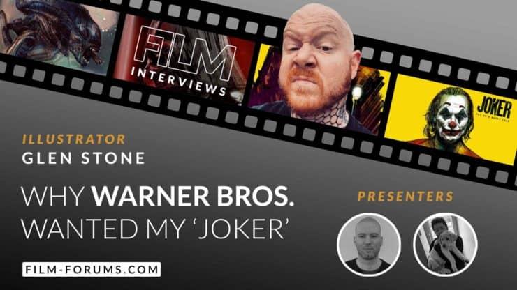 Glen Stone Illustrator, Warner Bros Joker