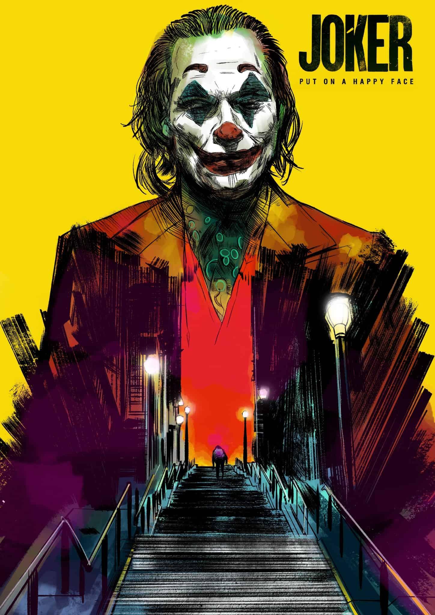 Glen Stone Illustration Joker Blu Ray Cover artwork