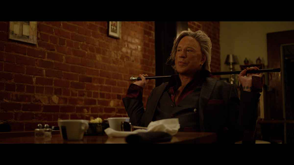 Actor Mickey Rourke in Adverse (2020)
