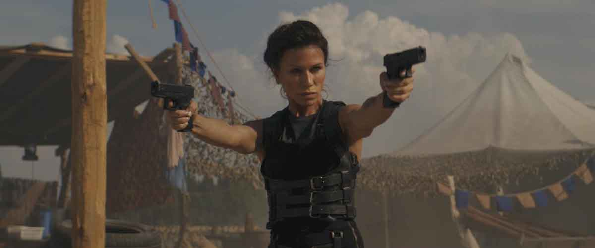 Rhona Mitra, actor, model, Skylines (2020)