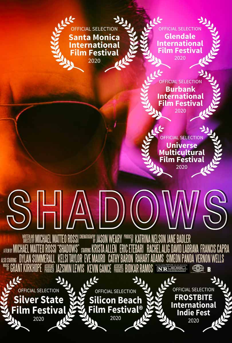 Movie poster Shadows (2021), Michael Matteo Rossi.