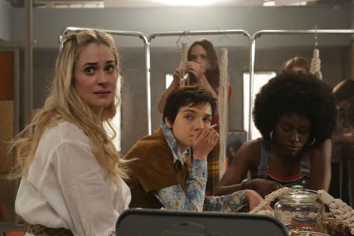 Actors Brittany Bristow, Julia Sarah Stone and Tymika Tafari