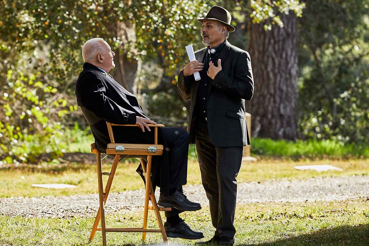 Sir Anthony Hopkins and director Nick Stagliano