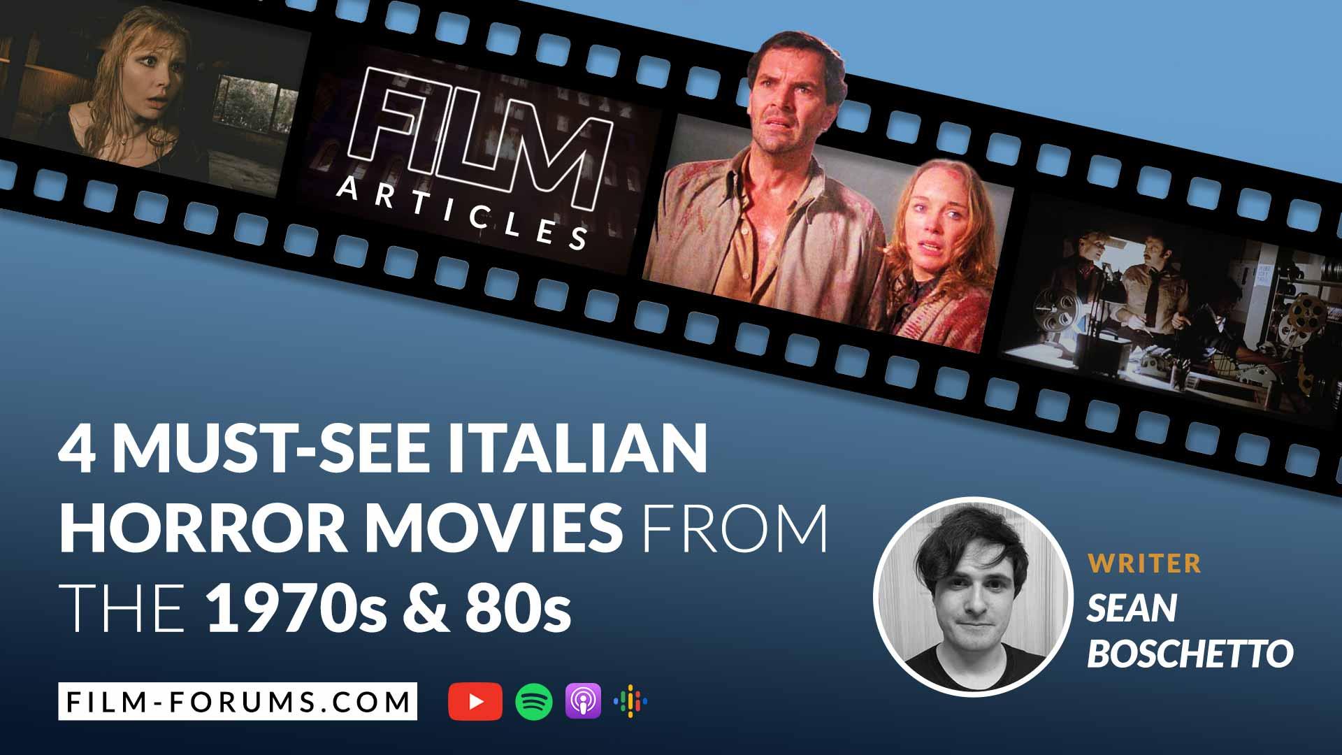 1970s 80s Italian Horror Movies